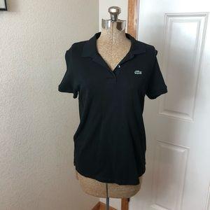 Lacoste Women's Black Polo T Shirt